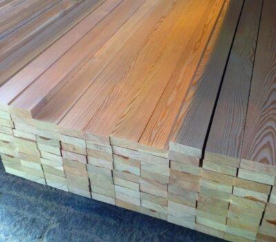 Доска строганная 25х100х6000 из лиственницы